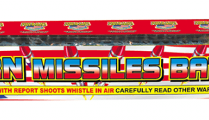 300 shots of whistling rockets zoom into the sky, one right after another. Great basic item.