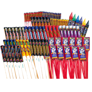 234-piece GIANT assortment filled with dozens of your favorite rockets if individually purchased cost $94.