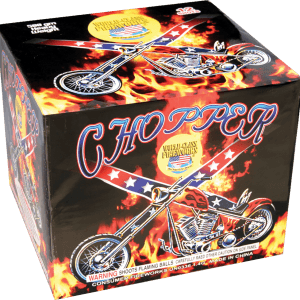 For motorcycle enthusiasts and those alike, this 500 gram cake has 12 huge shots. The vivid and vibrant reds, greens, and yellow chrysanthemums as well as the silver peony finale is sure to rattle some windows.