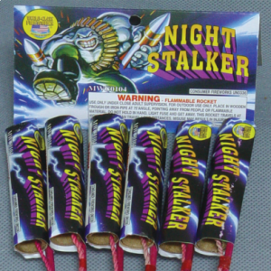 In this 4 pack rocket you get a high performing whistling and crackling rocket.
