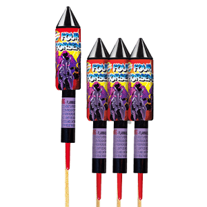 This one flies fast and high! Powerful aerial action has excellent lift and super-charged colorful burst.