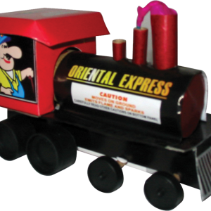 This train is a popular item with the kids. It begins with whistling mixed with a colorful barrage of red and green pearls into the air. This is followed by an explosion of white flittering flowers and finished up with a loud whistle from its horn. - See more at: http://www.jakesfireworks.com/oriental-express.html#sthash.ePOt9DAw.dpuf