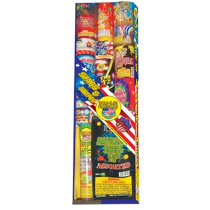 Stars and Stripes should be a part of every fireworks celebration. This great little assortment includes everything you need for a great show. Fountains, small cakes and even some artillery will be sure to give everyone something they enjoy.