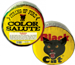 Light up the night with 500 TAU of your trusted Black Cat Firecracker-and these special ones have a zip of red and green stars to add color to your bang!     - See more at: http://www.blackcatfireworks.com/fireworks/firecrackers/BC-115/#sthash.CZvkKsgY.dpuf