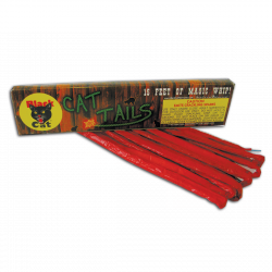 Black Cat's Cat Tails have a whip-cracking tale to tell. Each tail (or is it tale?) gives intense but fun blasts of specialized crackle. Whip it good! - See more at: http://www.blackcatfireworks.com/fireworks/novelties/bc-390/#sthash.OpyEsUrT.dpuf